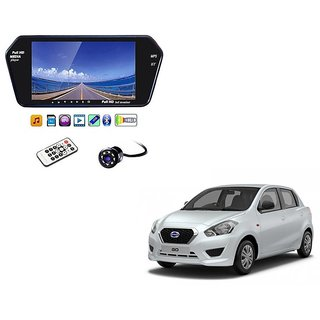 7 Inch Full HD Bluetooth LED Video Monitor Screen with USB , Bluetooth + 8 LED Reverse Parking Camera For Datsun Go