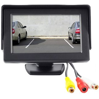 4 3 inch LCD TFT Standing Monitor Display For Maruti Suzuki Swift - Useful  For Reverse Parking Camera Output or Any Video Output