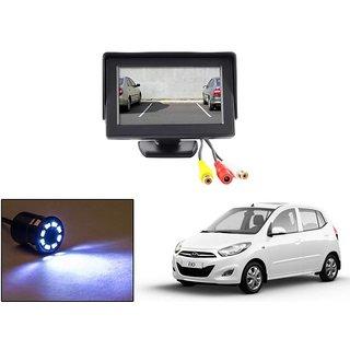Reverse Parking Camera Display Combo For Hyundai i10 - Night Vision Camera with 4.3 inch LCD TFT Monitor Display