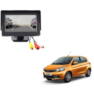 4.3 inch LCD TFT Standing Monitor Display For Tata Tiago  - Useful For Reverse Parking Camera Output or Any Video Output