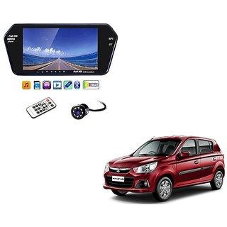 7 Inch Full HD Bluetooth LED Video Monitor Screen with USB , Bluetooth + 8 LED Reverse Parking Camera For Maruti Suzuki Alto K-10