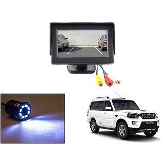 Reverse Parking Camera Display Combo For Mahindra Scorpio - Night Vision Camera with 4.3 inch LCD TFT Monitor Display