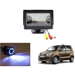 Reverse Parking Camera Display Combo For Maruti Suzuki Wagon R - Night Vision Camera with 4.3 inch LCD TFT Monitor Display