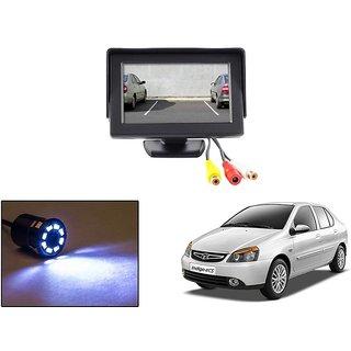 Reverse Parking Camera Display Combo For Tata Indigo eCS - Night Vision Camera with 4.3 inch LCD TFT Monitor Display