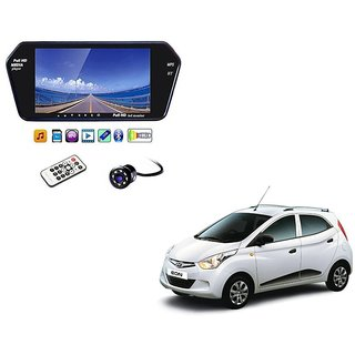 7 Inch Full HD Bluetooth LED Video Monitor Screen with USB , Bluetooth + 8 LED Reverse Parking Camera For Hyundai Eon