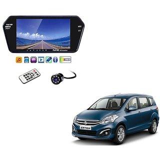 7 Inch Full HD Bluetooth LED Video Monitor Screen with USB , Bluetooth + 8 LED Reverse Parking Camera For Maruti Suzuki Ertiga