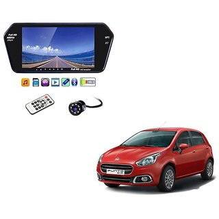 7 Inch Full HD Bluetooth LED Video Monitor Screen with USB , Bluetooth + 8 LED Reverse Parking Camera For Fiat Punto