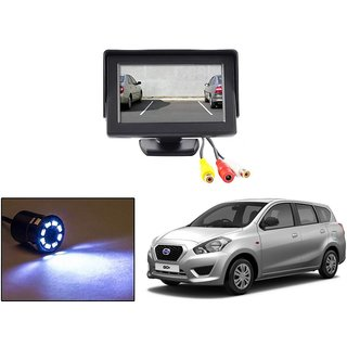 Reverse Parking Camera Display Combo For Datsun Go Plus - Night Vision Camera with 4.3 inch LCD TFT Monitor Display
