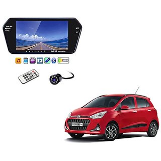 7 Inch Full HD Bluetooth LED Video Monitor Screen with USB , Bluetooth + 8 LED Reverse Parking Camera For Hyundai Grand i10