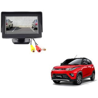 4.3 inch LCD TFT Standing Monitor Display For Mahindra KUV 100  - Useful For Reverse Parking Camera Output or Any Video Output