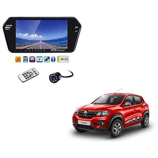 7 Inch Full HD Bluetooth LED Video Monitor Screen with USB , Bluetooth + 8 LED Reverse Parking Camera For Renault Kwid