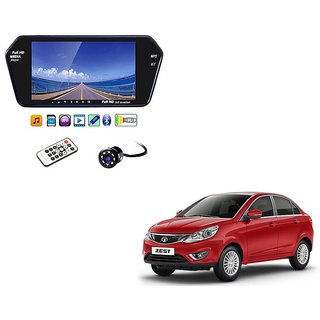 7 Inch Full HD Bluetooth LED Video Monitor Screen with USB , Bluetooth + 8 LED Reverse Parking Camera For Tata Zest