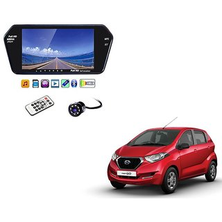 7 Inch Full HD Bluetooth LED Video Monitor Screen with USB , Bluetooth + 8 LED Reverse Parking Camera For Datsun Redi Go