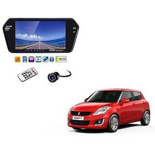 7 Inch Full HD Bluetooth LED Video Monitor Screen with USB , Bluetooth + 8 LED Reverse Parking Camera For Maruti Suzuki Swift