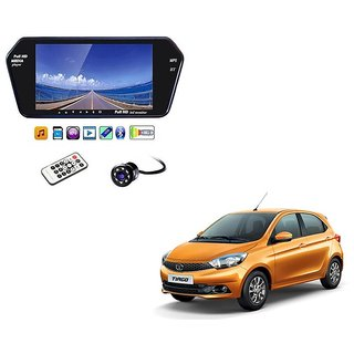 7 Inch Full HD Bluetooth LED Video Monitor Screen with USB , Bluetooth + 8 LED Reverse Parking Camera For Tata Tiago