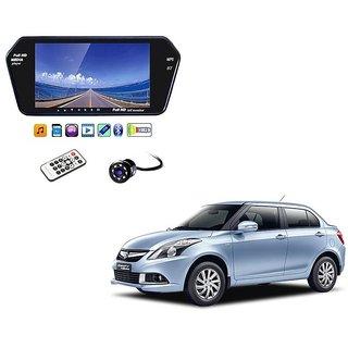 7 Inch Full HD Bluetooth LED Video Monitor Screen with USB , Bluetooth + 8 LED Reverse Parking Camera For Maruti Suzuki Swift Dezire