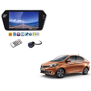 7 Inch Full HD Bluetooth LED Video Monitor Screen with USB , Bluetooth + 8 LED Reverse Parking Camera For Tata Tigor