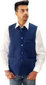 Matelco Men's Blue Vasket Slim Fit Party, Casual Buttoned Blazer With Latest Stretch Fabric L