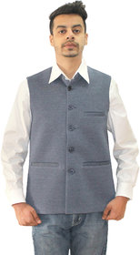 Matelco Men's Grey Vasket Slim Fit Party, Casual Buttoned Blazer With Latest Stretch Fabric L