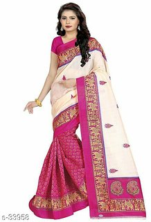 Dashing Look Trendy Bagalpuri Silk Saree for women fashion