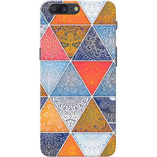 OnePlus 5 Case, One Plus 5 Case, Multi Triangle Slim Fit Hard Case Cover/Back Cover for OnePlus 5