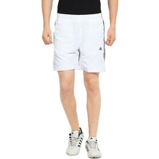 Adidas White Polyester Outdoor  Adventure Shorts