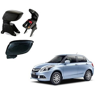 Black Arm Rest Console For Maruti Suzuki Swift Dezire