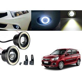 Car Fog Lamp Angel Eye DRL Led Light For Maruti Suzuki Alto K-10