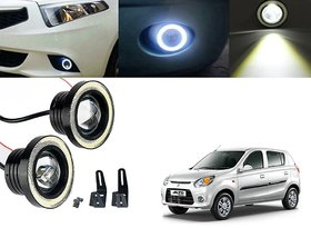 Car Fog Lamp Angel Eye DRL Led Light For Maruti Suzuki Alto 800