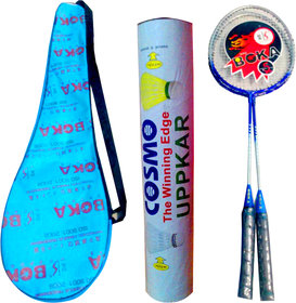 First Quality Badminton Racquet Set of 2 + Cover + 1 Shuttlecock