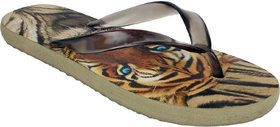 Birde Brown PU Slippers For Mens And Boys
