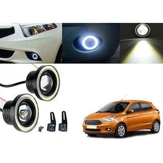 Car Fog Lamp Angel Eye DRL Led Light For Ford Figo