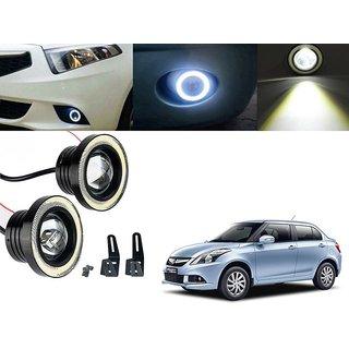 Car Fog Lamp Angel Eye DRL Led Light For Maruti Suzuki Swift Dezire