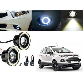 Car Fog Lamp Angel Eye DRL Led Light For Ford Eco Sport