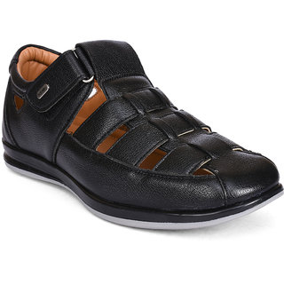 Action Shoes Black Slipons Casual Shoes