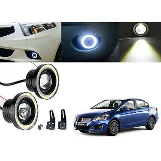 Car Fog Lamp Angel Eye DRL Led Light For Maruti Suzuki Ciaz