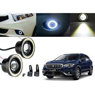 Car Fog Lamp Angel Eye DRL Led Light For Maruti Suzuki S-Cross