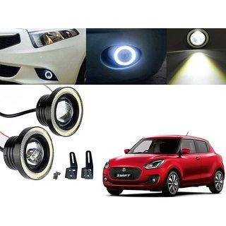 Car Fog Lamp Angel Eye DRL Led Light For Maruti Suzuki Swift New 2018
