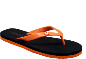 UCB Black Orange FlipFlops For Men