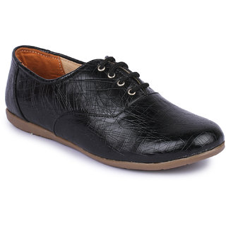 Naisha Women Black Casual Shoes