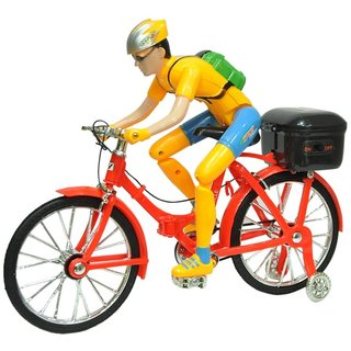 New Pinch Street Bicycle Battery Operated Musical Cycle Toy For Kids  (Multicolor)