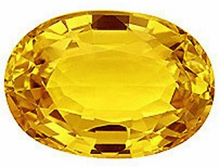 J F 100 Certified Natural Yellow Sapphire 5.74cts /6.00 ratti Loose Gem Stone ( 5.74 carat )