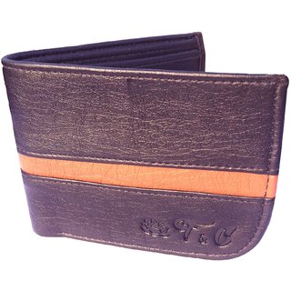 Friends Company Men Wallet Bifold Black genuine Leatherlite Top purse wallet-StyleCodex06