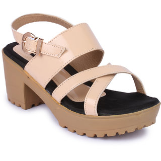 Naisha Women's Beige Wedges