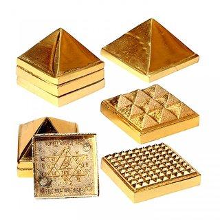 KESAR ZEMS Vastu Pyramids Small Golden