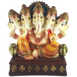 KESAR ZEMS Panch Mukhi Ganesh Idol