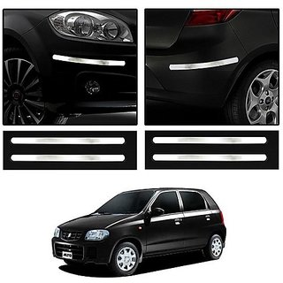 Buy Trigcars Maruti Suzuki Alto Car Chrome Bumper Scratch Potection