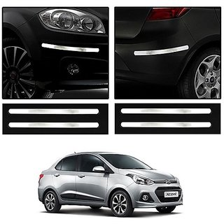 Buy Trigcars Hyundai Xcent Car Chrome Bumper Scratch Potection Guard