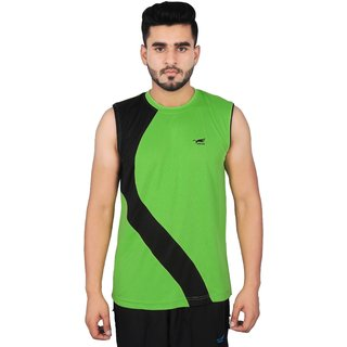 NNN Men's Green T-shirt Fitness Gym Cardio Round Neck Sports T-shirt