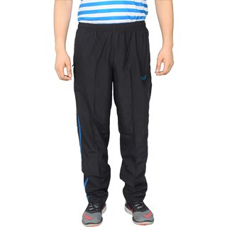 NNN Mens Black Track Pant Fitness Gym Dryfit Full Length Sports Track Pant